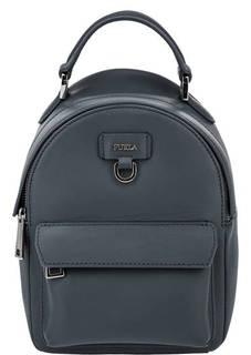 Маленький кожаный рюкзак синего цвета Favola Furla