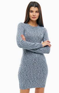 Хлопковое платье с длинными рукавами и круглым вырезом Lacoste