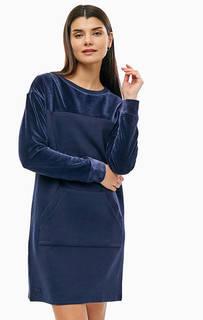 Короткое хлопковое платье с карманом-кенгуру Lacoste