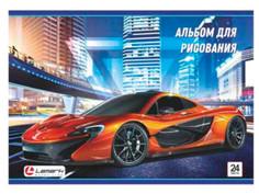 Альбом для рисования Lamark Автомобиль 24 листов 160г/м 06754