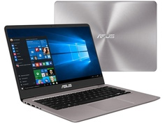 Ноутбук ASUS Zenbook UX410UF-GV118T Grey 90NB0HZ3-M03840 (Intel Core i5-8250U 1.6 GHz/8192Mb/256Gb SSD/nVidia GeForce MX130 2048Mb/Wi-Fi/Bluetooth/Cam/14.0/1920x1080/Windows 10 Home 64-bit)