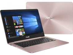 Ноутбук ASUS Zenbook UX430UA-GV286R 90NB0EC4-M13800 Rose Gold (Intel Core i5-8250U 1.6 GHz/8192Mb/256Gb SSD/No ODD/Intel HD Graphics/Wi-Fi/Bluetooth/Cam/14.0/1920x1080/Windows 10 64-bit)