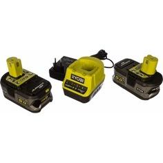 Аккумулятор ryobi one+ rc18120-250 (18 в; 5.0 а*ч; li-ion) 2 шт.+ зарядное устройство rc18120 5133003364