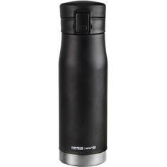 Термокружка asobu liberty canteen 0.5 л, черная/стальная lc17 black-silver