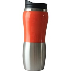 Термокружка stinger 0.4 л, серебристая/оранжевая, глянцевая hy-am642-o