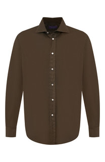Хлопковая рубашка с воротником кент Ralph Lauren