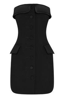 Шерстяное мини-платье на пуговицах Alexander Wang