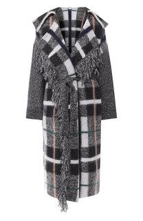 Шерстяное пальто свободного кроя с поясом Stella McCartney