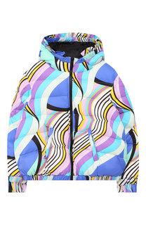 Пуховая куртка на молнии с капюшоном Emilio Pucci