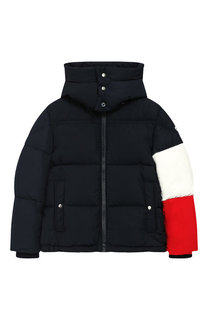 Пуховая куртка на молнии с капюшоном Moncler Enfant