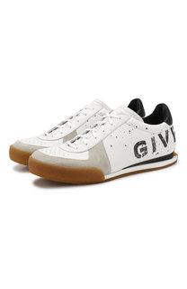 Кожаные кроссовки на шнуровке Givenchy