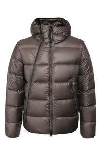 Пуховая куртка на молнии с капюшоном C.P. Company
