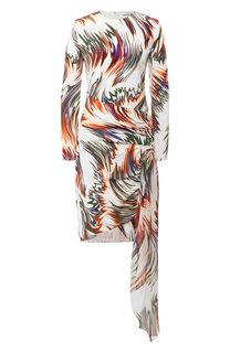 Шелковое платье с оборкой Givenchy