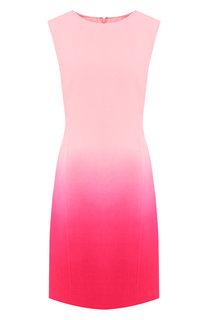 Шерстяное платье без рукавов Oscar de la Renta