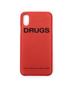 Оранжевый чехол Drugs для iPhone X Raf Simons
