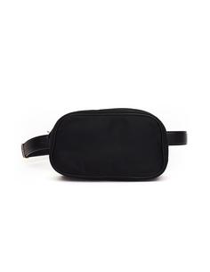 Черная поясная сумка из текстиля и кожи The Row