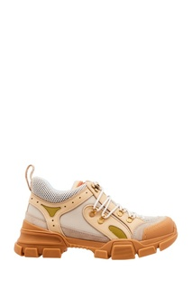 Бежевые кроссовки Flashtrek Gucci