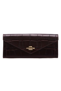 Кошелек Soft wallet сливового цвета Coach