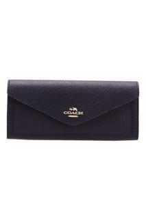Темно-синий кошелек Soft wallet Coach