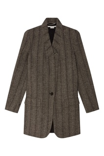 Короткое серое пальто Stella Mc Cartney