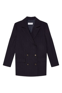 Синий пиджак в полоску D.O.T.127