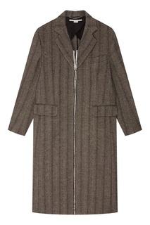 Серое пальто в полоску Stella Mc Cartney