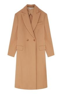Бежевое шерстяное пальто Stella Mc Cartney