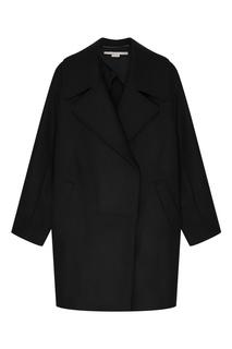 Черное шерстяное пальто Stella Mc Cartney