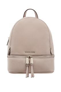 Серый рюкзак Rhea Zip Michael Kors
