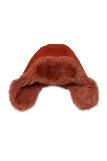 Комбинированная терракотовая шапка Korta