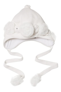 Белая шапка с розами Korta