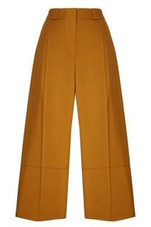 Горчичные шерстяные брюки Marni