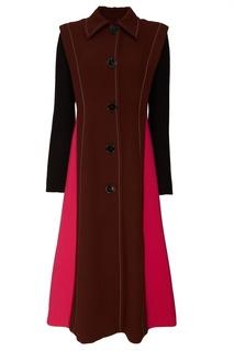 Комбинированное однобортное пальто Marni