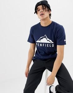 Темно-синяя футболка с логотипом Penfield Augusta Mountain - Темно-синий