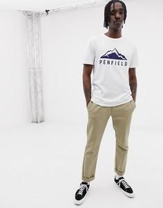 Белая футболка с логотипом Penfield Augusta - Белый