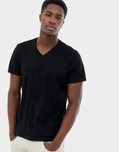 Черная футболка c V-образным вырезом J.Crew Mercantile - Черный