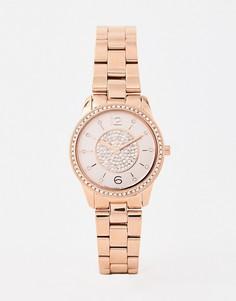 Наручные часы цвета розового золота Michael Kors MK6619 Petite Runway — 28 мм - Золотой