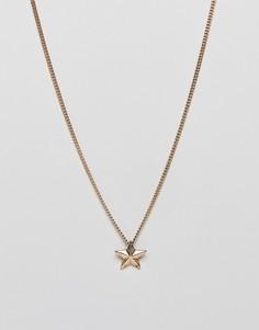 Золотистое ожерелье с подвеской-звездой WFTW - Золотой