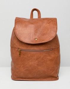 Мягкий рюкзак с молнией ASOS DESIGN - Рыжий