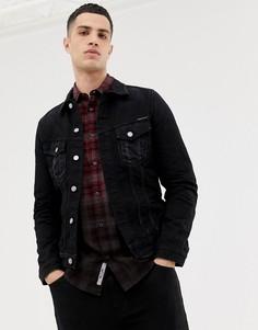 Черная выбеленная джинсовая куртка Nudie Jeans Co Billy - Черный