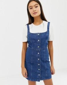 Джинсовое облегающее платье на кнопках ASOS DESIGN - Синий