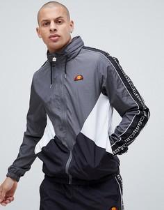 Серая спортивная куртка с фирменной лентой на рукавах ellesse Lapaccio - Серый