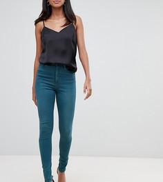 Зеленые джинсы скинни с завышенной талией ASOS DESIGN Tall Ridley - Синий