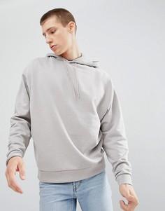 Oversize-худи светло-серого цвета ASOS DESIGN - Серый