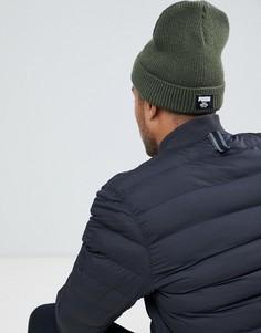 Классическая шапка-бини в рубчик цвета хаки Puma 02170904 - Зеленый