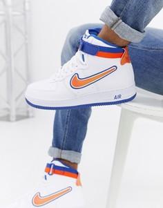 Белые высокие кроссовки Nike Air Force 1 07 AV3938-100 - Белый