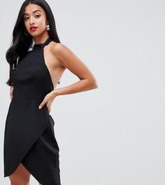 Платье-халтер мини ASOS DESIGN Petite - Черный