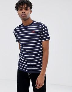 Темно-синяя футболка в полоску Nike SB Just Do It 923424-101 - Темно-синий