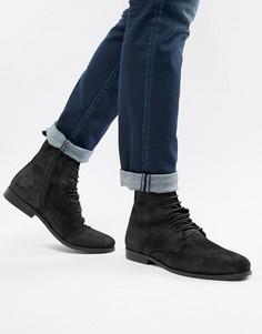 Замшевые ботинки на шнуровке KG by Kurt Geiger - Черный