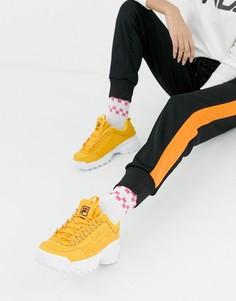 Желтые премиум-кроссовки с логотипом Fila Disruptor 2 - Желтый
